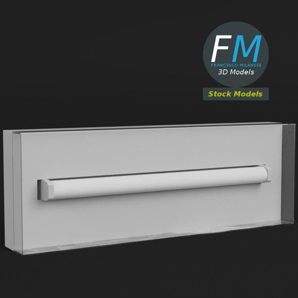 Wall mounted emergency light - 3DOcean Item for Sale