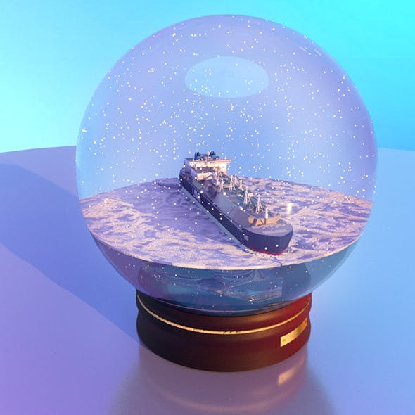 Snow globe with the Ship