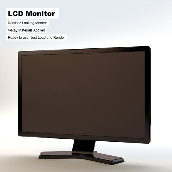 LCD Monitor - 3DOcean Item for Sale