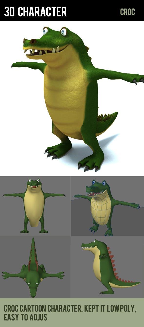 crocodile  - 3DOcean Item for Sale