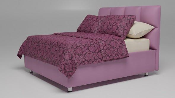 Bed Elisa lilac - 3DOcean Item for Sale