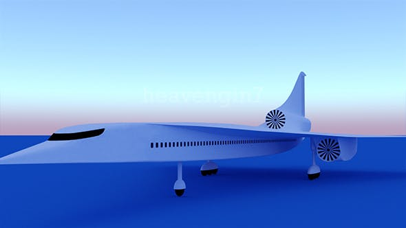 New Aircraft Passenger Concept - 3DOcean Item for Sale