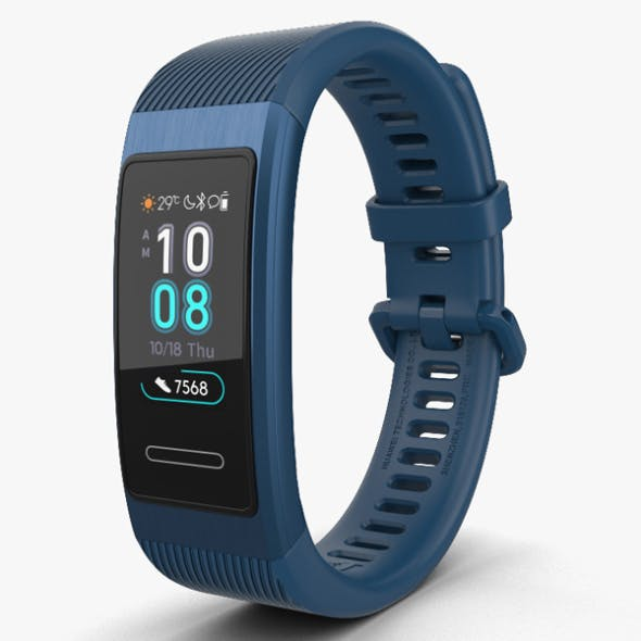 Huawei Band 3 Pro Blue - 3DOcean Item for Sale