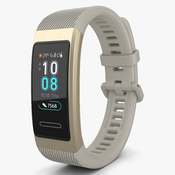 Huawei Band 3 Pro Gold - 3DOcean Item for Sale