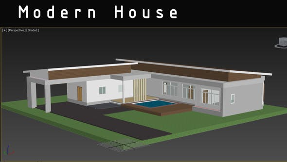 Modern House. - 3DOcean Item for Sale