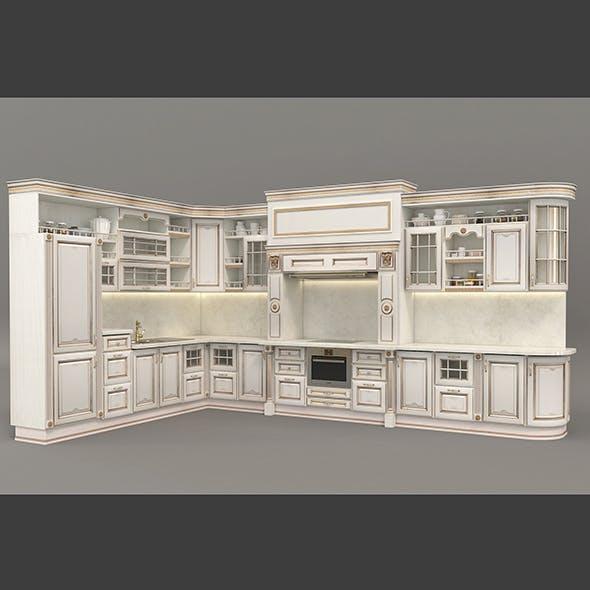 European Style Kitchen 3 - 3DOcean Item for Sale