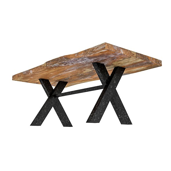natural wood table model 03 - 3DOcean Item for Sale