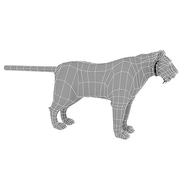 3D model low poly tiger base model - 3DOcean Item for Sale
