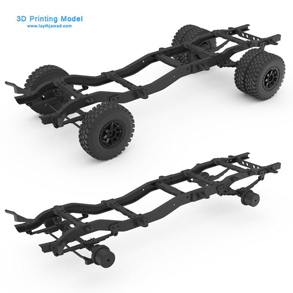 Chasis Chevy K30 3D Printing Model - 3DOcean Item for Sale