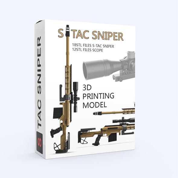 S-TAC Sniper 3D Printing Model - 3DOcean Item for Sale