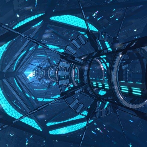 Sci Fi Corridor Bridge Tunnel 3D model