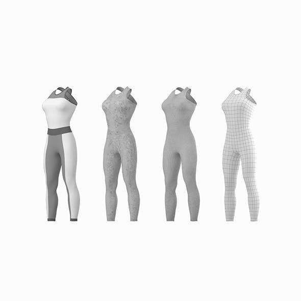 Woman Sportswear 02 Base Mesh Design Kit - 3DOcean Item for Sale