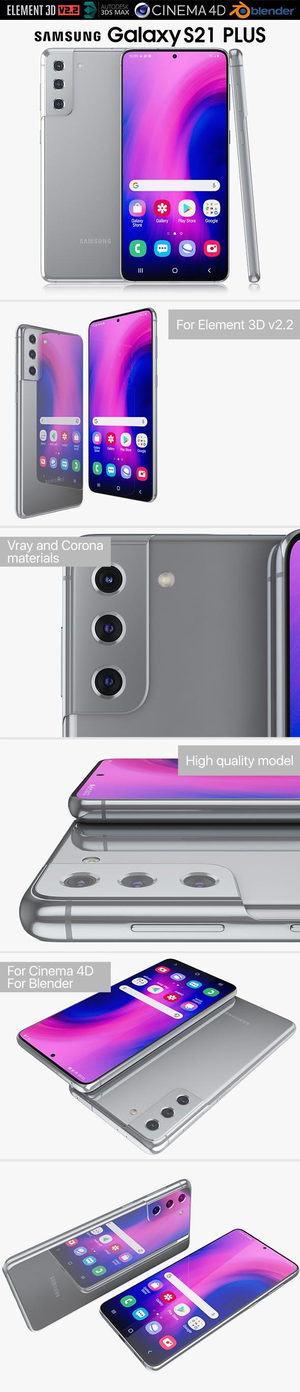 Samsung Galaxy S21 Plus silver - 3DOcean Item for Sale