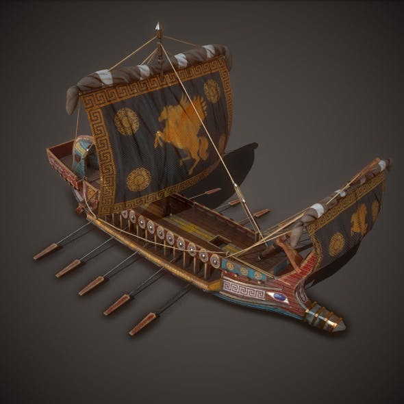 Ancient Ship 01 - 3DOcean Item for Sale
