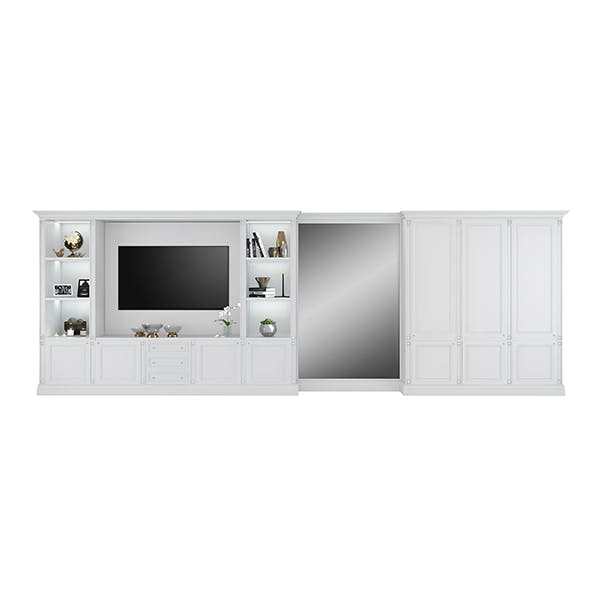 Tv cabinet with wardrobe by FC Shape - 3DOcean Item for Sale