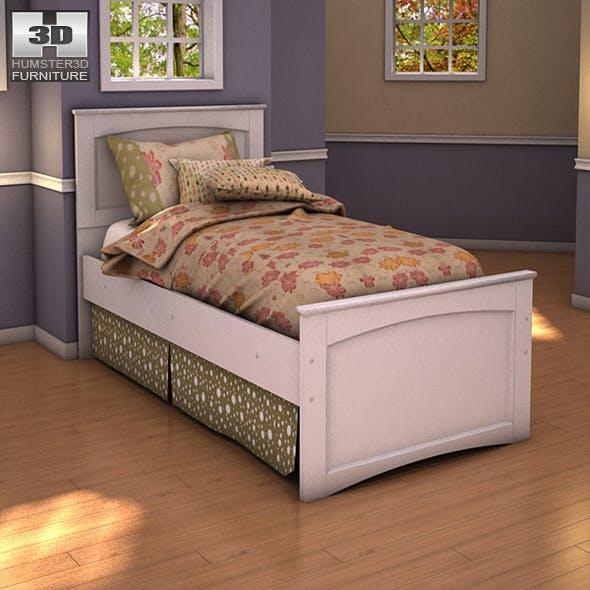 Ashley Sandhill Panel Bed - 3DOcean Item for Sale