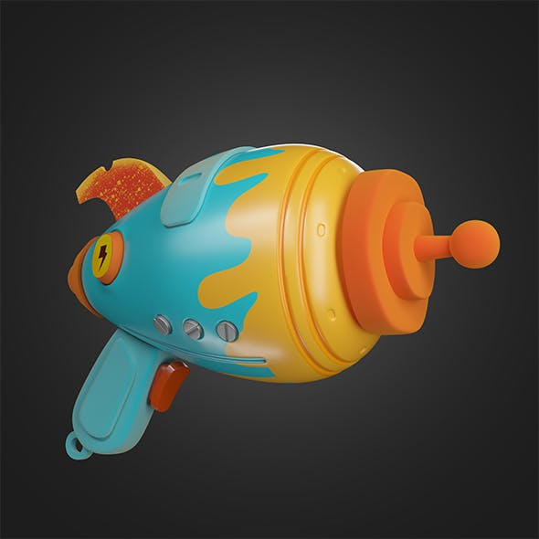 cartoon gun - 3DOcean Item for Sale