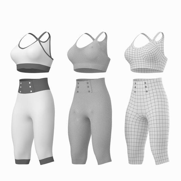 Woman Sportswear 04 Base Mesh Design Kit - 3DOcean Item for Sale
