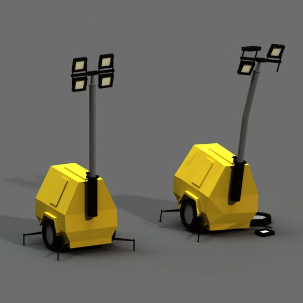 Post Apocalyptic Light Generator - 3DOcean Item for Sale