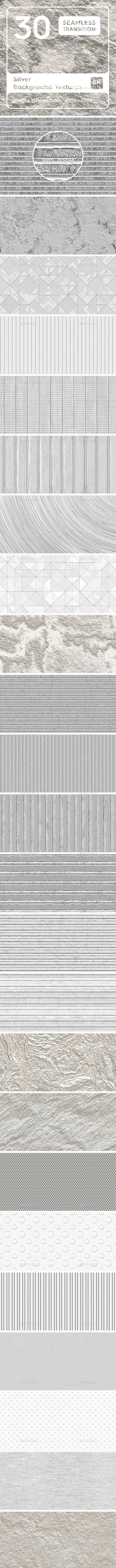 30 Silver Background Textures - 3DOcean Item for Sale