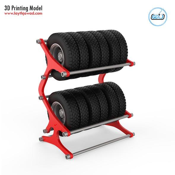 Tyre Rack 3D Printing Model - 3DOcean Item for Sale
