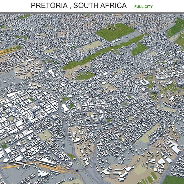 Pretoria city South Africa 3d model 60km