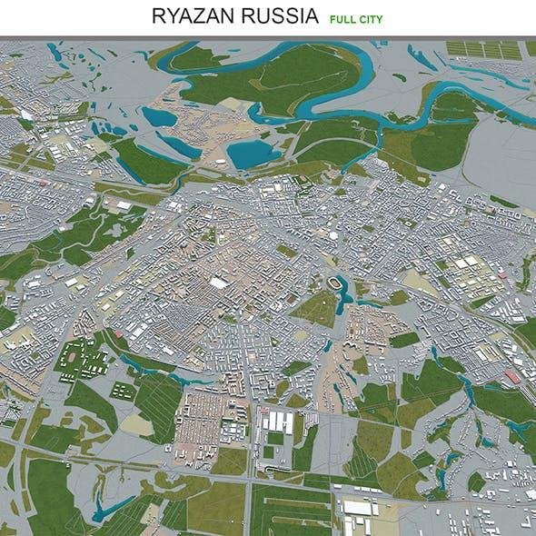 Ryazan city Russia 3d model 50km