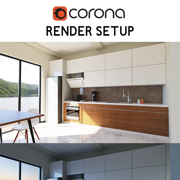 Corona Kitchen Render Setup