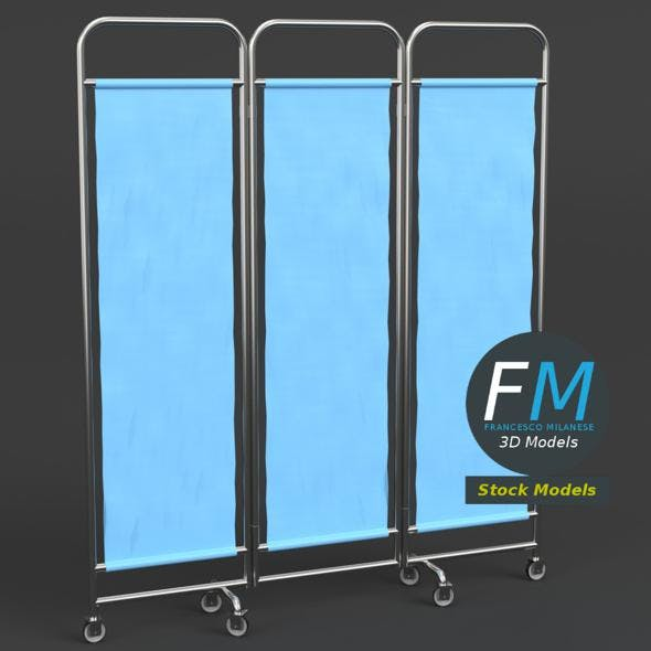 Hospital ward privacy screen - 3DOcean Item for Sale