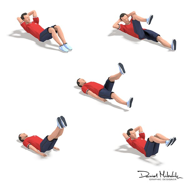 5 Exercise Animations Small Pack - 3DOcean Item for Sale