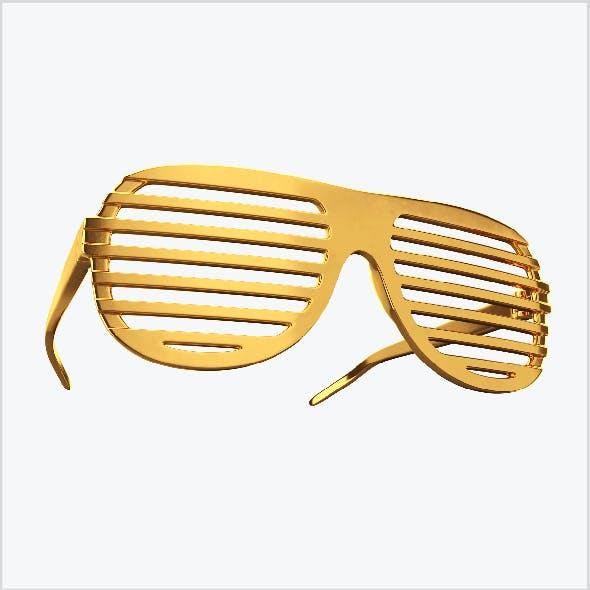 Gold shutter shade sunglasses