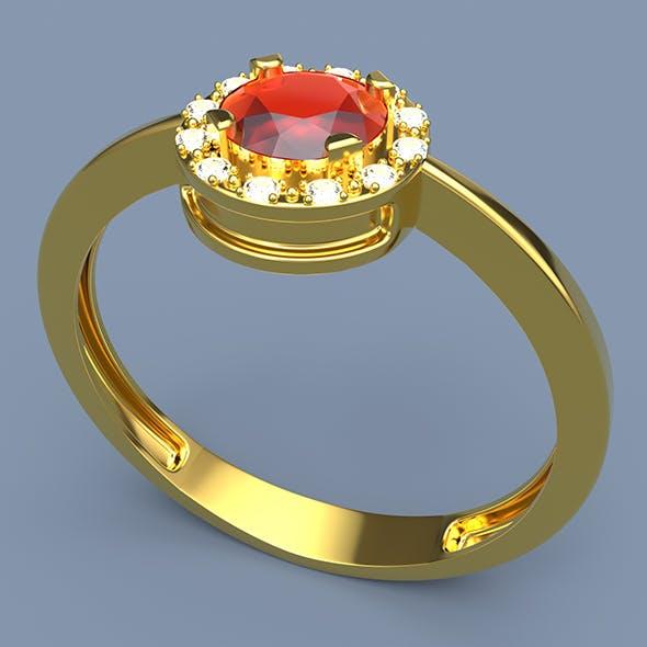 Gold Ring Gemstone 3D print model