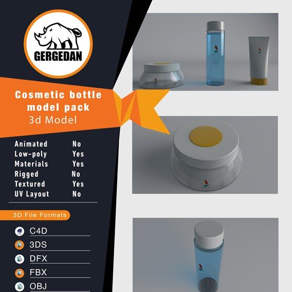 Cosmetic bottle model pack