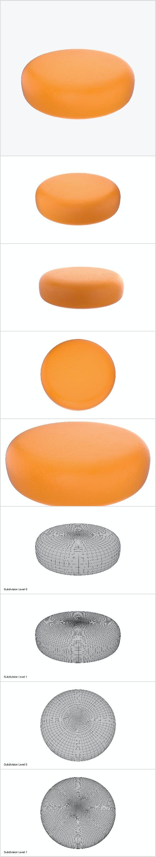 Cheese wheel full - 3DOcean Item for Sale