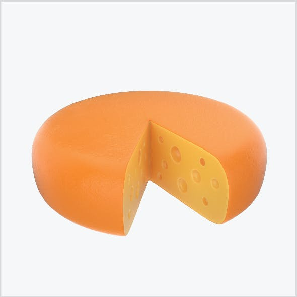 Cheese wheel sliced
