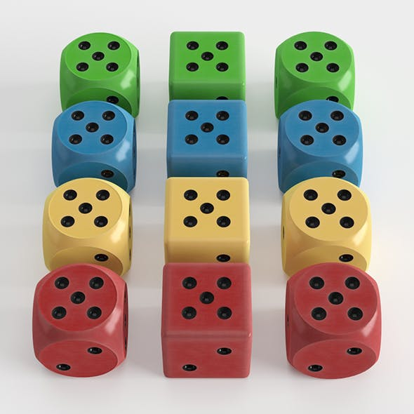 Classic Dice with different colors