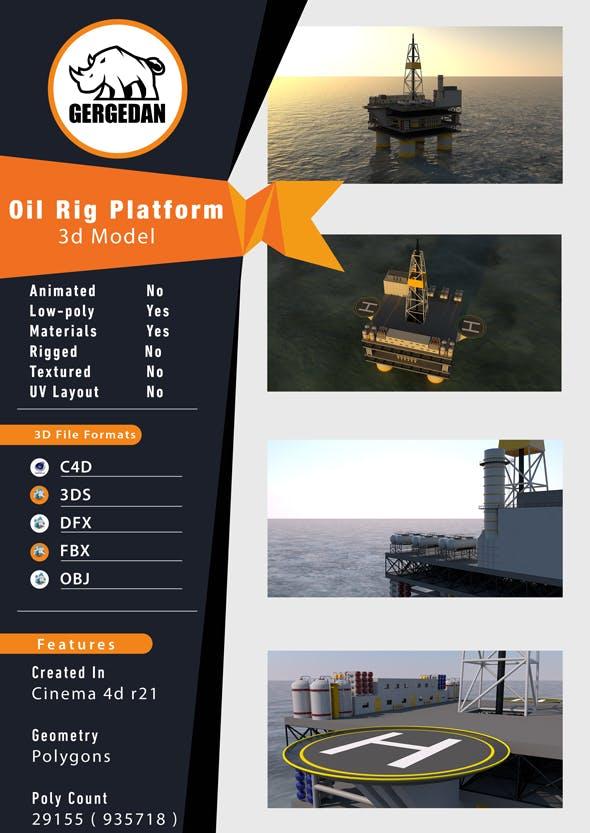 Oil Rig Platform - 3DOcean Item for Sale