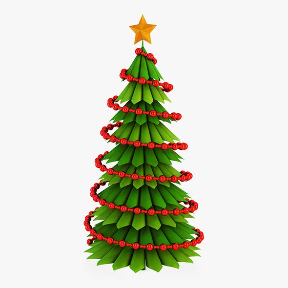Christmas Tree Paper v 3 - 3DOcean Item for Sale