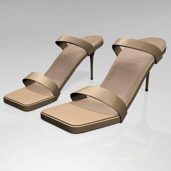Strappy Square-Toe Stiletto Sandals 01