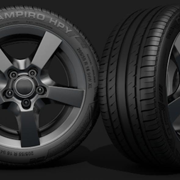 HQ Car Tyre Model