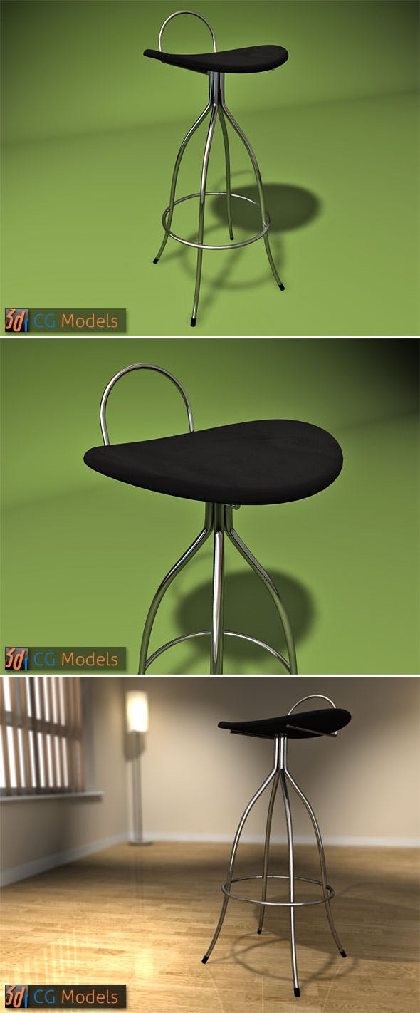 Contemporary Stool 03 - 3DOcean Item for Sale