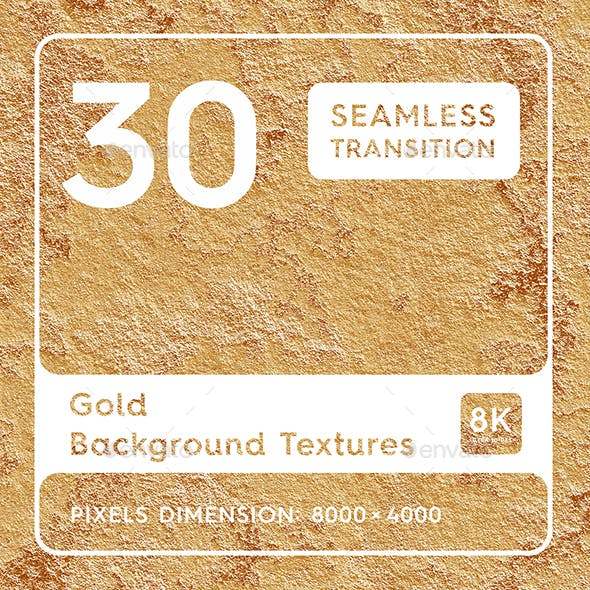 30 Gold Background Textures. Seamless Transition.