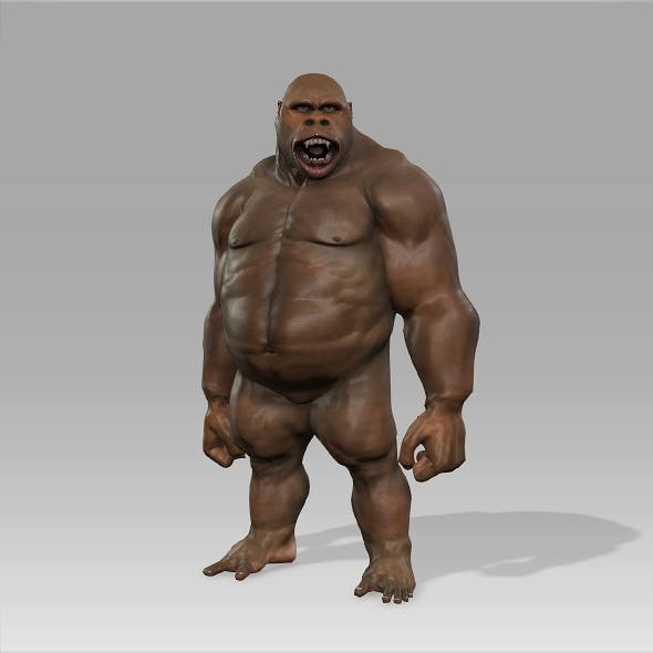 Gorilla Character Fully Rigged