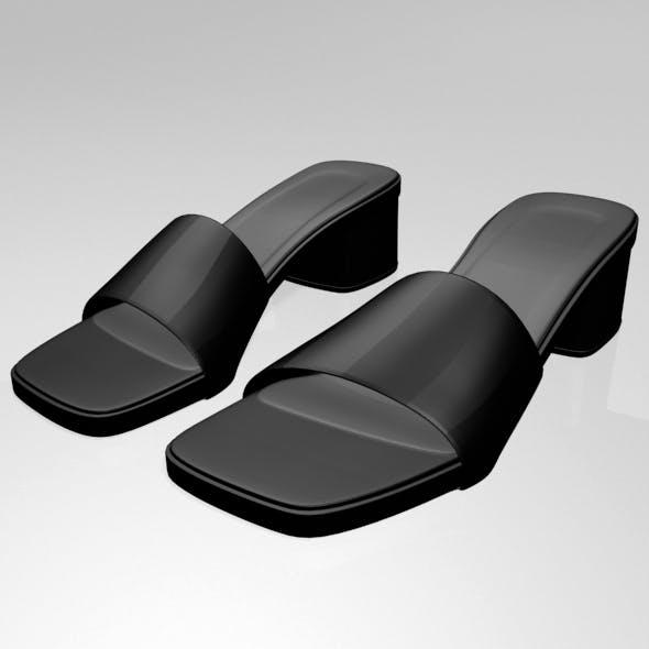 Square-Toe Slide Sandals 01