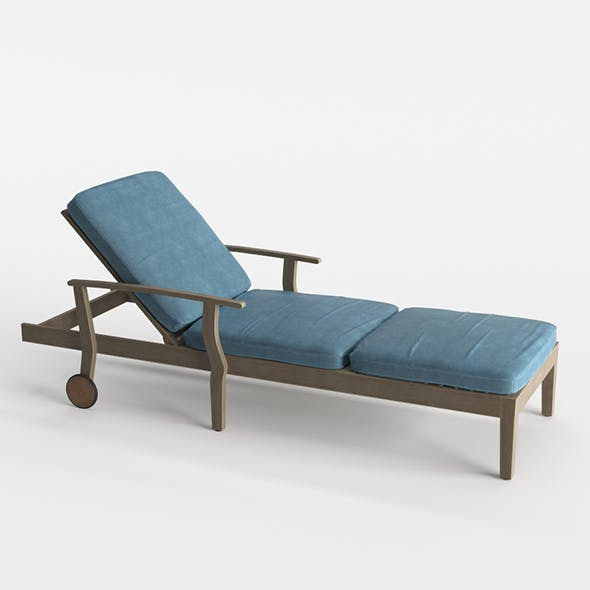 Pool Deck Chaise Lounge Wood Base