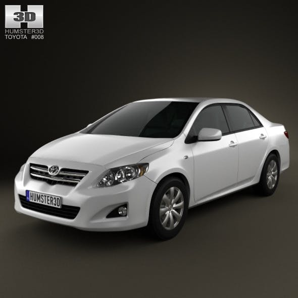 Toyota Corolla Le Eco: Toyota Corolla CG Textures & 3D Models From 3DOcean