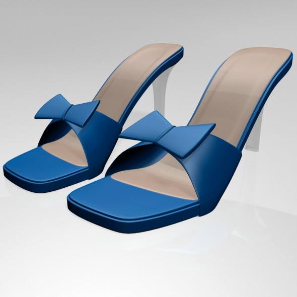 Square-Toe Faux-Bow Stiletto Sandals 01