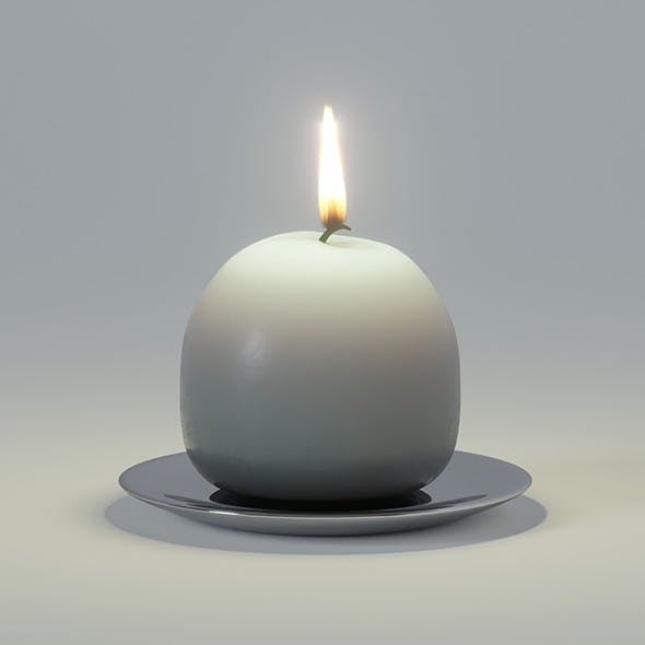 Ball candle - 3DOcean Item for Sale