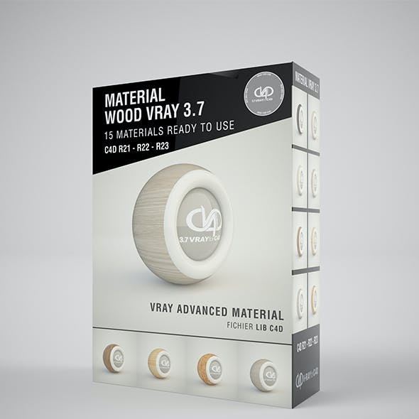 16 Materilas Wood VRAY 3.7 C4D
