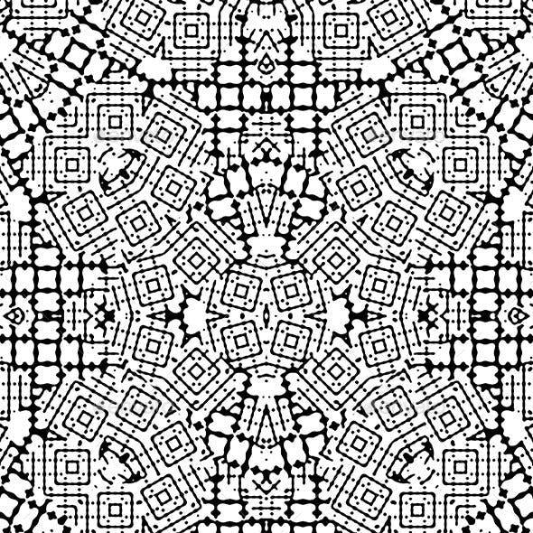 Modern Black and White Geometric Seamless Print